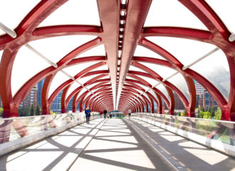 Peace bridge by Santiago Calatrava.