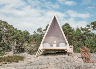 Nolla Cabin on Vallisaari Island by Robin Falck