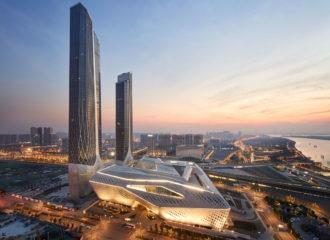 Nanjing International Youth Cultural Centre by Zaha Hadid Architects